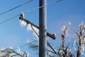 Ice on Electrical Line